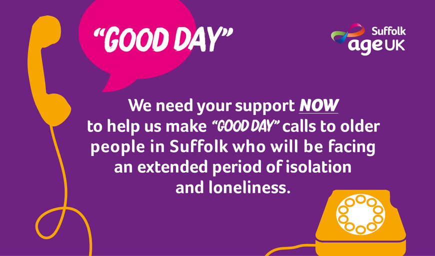 Good day calls campaign website banner